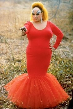Divine (as Babs Johnson) from John Waters' Pink Flamingos, 1972 #Divine #BabsJohnson #JohnWaters #PinkFlamingos