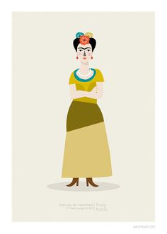 Frida Kahlo Print. Judy Kaufmann.