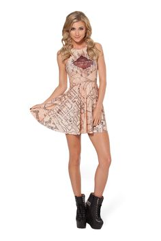 Marauders Map Reversible Skater Dress by Black Milk Clothing $95AUD