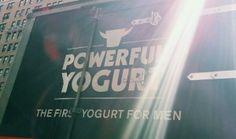 """Powerful yogurt: The first yogurt for men"" (thanks @ asociologist and @ jsmooth995)"