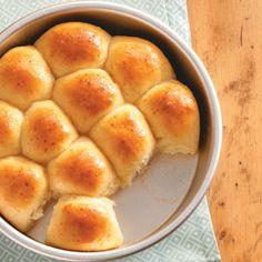 Baker's Dozen Yeast Rolls - yummy honey - garlic topping