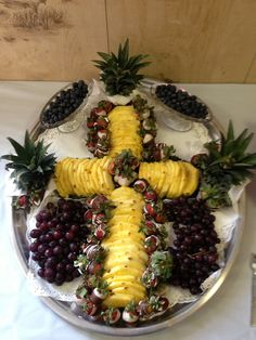 Communion fruit tray decoration