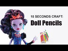 15 Seconds craft: Doll Color Pencils - EPISODE 1