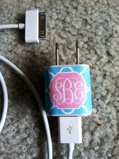 Iphone Charger Wrap by SimplySouthernDecals on Etsy, $4.00