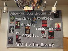back to school bulletin board ideas for teens | Teen fiction Coventry Public Library, RI bulletin board. librari bulletin, school bulletin boards, hs librari, public libraries, back to school
