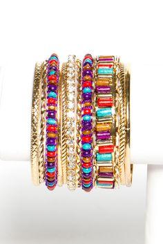 multicolor bangle set