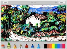 Doodle.ly app: Turns kids' doodles into works of art. Great back seat app for road trips.