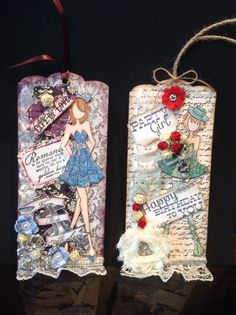 Julie Nutting  prima doll stamp tags  designs  by creativewayz