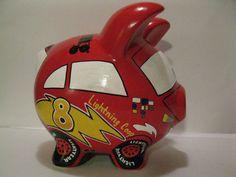 Race Car Piggy Bank