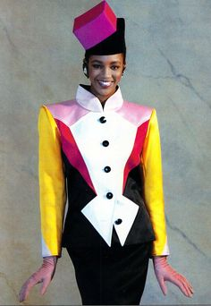Yves Saint Laurent, worn by Naomi Campbell, Spring 1988