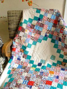 antique quilt.