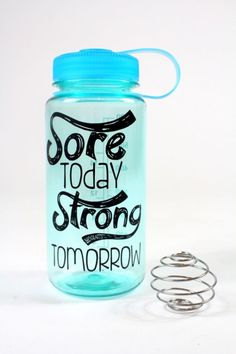 Giveaway: A Blender Bottle with a Motivating Message, courtesy of @Cassey Toi Ho. Enter at @SparkPeople (click through!) to win--and look for more weekly giveaways from us now through January! | #fitness #health #motivation