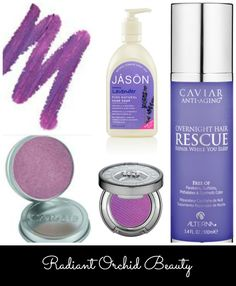 beauty finds with #RadiantOrchid -- color of the year