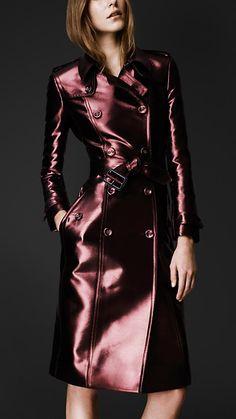 burberry trench metallic, fashion, style, burberri bright, bright metal, burberri prorsum, metal trench, trench coats, beauti burberri