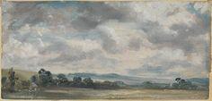 John Constable, 'Harnham Ridge, Salisbury' 1820 or 1829 exhibition at the turner contemporary nov 17 2013