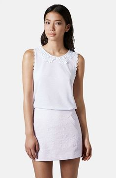 Topshop Lace Collar Tank available at #Nordstrom