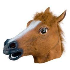 Horse mask Lol! The key ingredient of viral Youtube videos! hors head, horses, hors mask, realist hors, masks, head mask