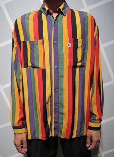 colour button, rayon shirt, 90s cross, cross colour