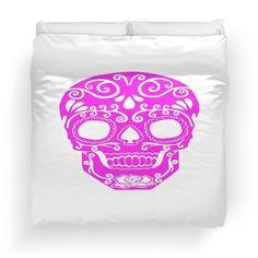 pink sugar skull with transparent pattern