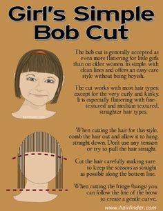 simple bob cut for little girls