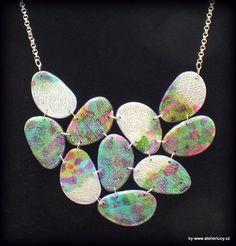 Tutorial - ink jewelry from polymer clay :)), by www.atelierlucy.cz