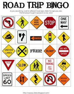 #Printable Road Trip Bingo -- great for #roadtrips!