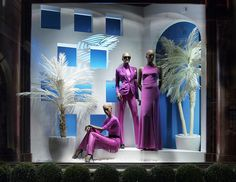 Our New Bond Street store windows are aglow with lustrous magenta hues