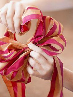 For a Christmas wreath bow!