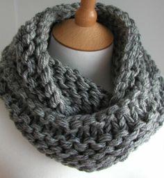 circular scarf, knitting patterns, cowl, scarves, steel grey, yarn, grey chunki, knit pattern, scarf patterns
