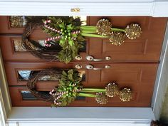 whimsical wreath, whimsic wreath, ornament, front doors, christma, grapevin wreath, door wreath