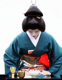 Traditional kimono and obi (belt) in Japan