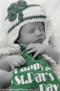 Cream & Green Shamrock Hat