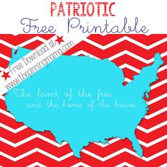 Free Patriotic Printable for the 4th of July!