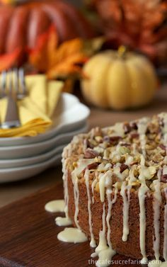 Celebrate Fall With a Fabulous Pumpkin, Pecan & Pepita Coffee Cake