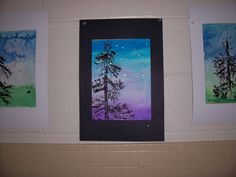 Winter tree using watercolor, cardboard, and glitter by Brightest Crayon in the Blog.