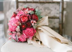 Stunning Red and Pink Bridal Bouquet xx