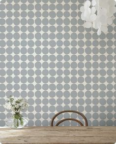 Marimekko wallpaper. LOVE it.