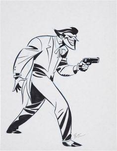 The Joker Concept Art by Bruce Timm