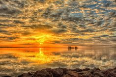 """Christmas Eve Sunrise"" Merrit Island, Florida"