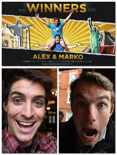 Alex and Marko's reaction to winning the Biggest Baddest Bucket List via @vagabrothers