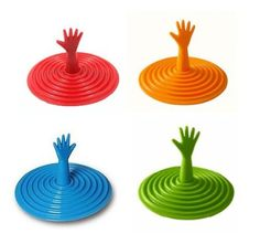 One Help Me Reaching Drowning Hand Vortex Drain Stopper - Assorted Colors:Amazon:Toys & Games