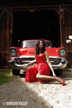 57 Chevy with Pin-up