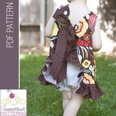 The Lucy Pinafore PDF Sewing by thesweetestpatterns on Etsy, $6.00