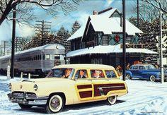 1952 Mercury & 1948 DeSoto Christmas Card