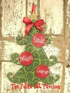burlap hanger patterns | christmas tree by jackies