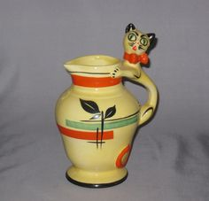 Ditmar Urbach Pitcher with Cat Handle