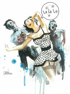 Zombie Love by Lora Zombie  http://www.eyesonwalls.com/collections/fine-art-prints/products/zombie-love-fine-art-print#