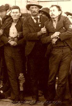 Bob and Grat Dalton, outlaw members of the Dalton Gang dead
