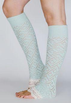 Mint leg warmers
