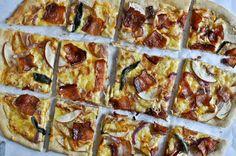 whole wheat autumn apple pizza
